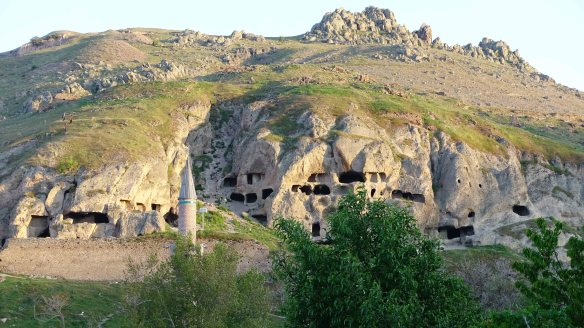 Hills with caves