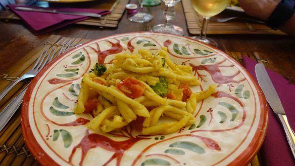 Home made vegetable pasta