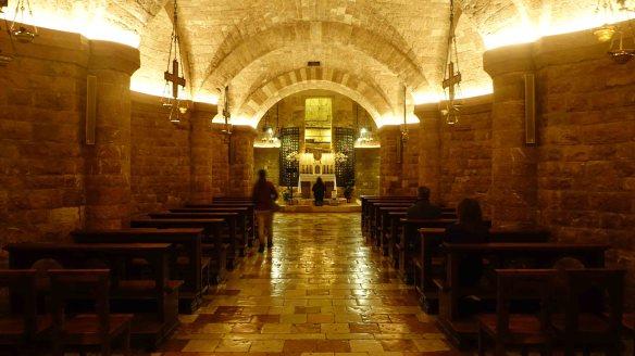 Jen in lower basilica