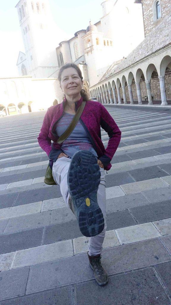 Jen kicking me