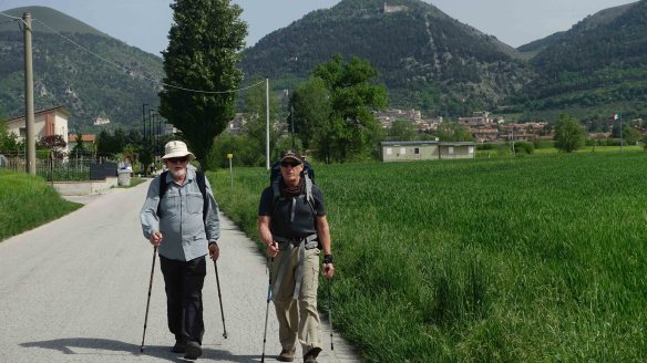 Ken and Peter leaving Gubbio