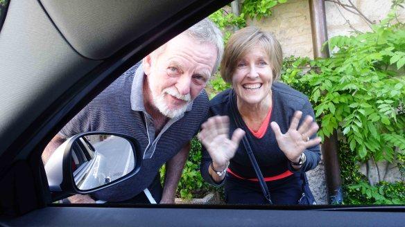 Ken & Angie saying goodbye