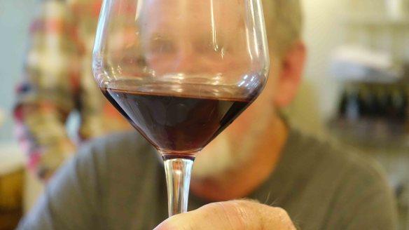 Ken with wine