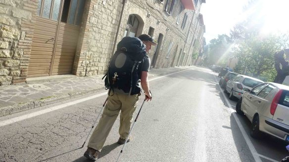 Peter walking out of Plga