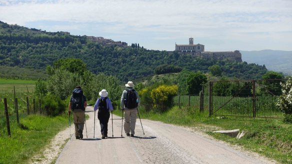Walking to Assisi