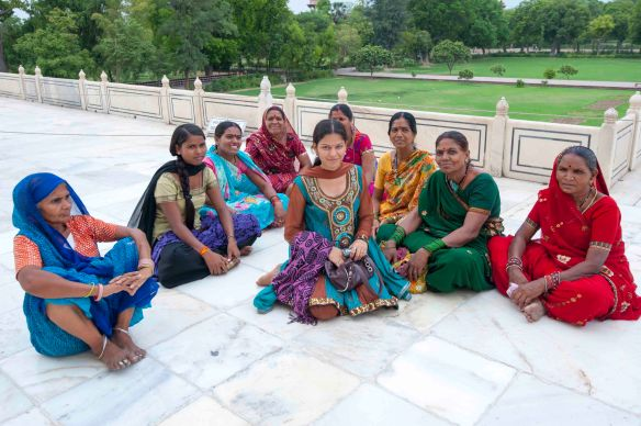 Women at Taj sitting