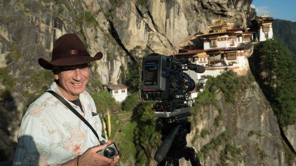 Pieter de Vries at Tigers Nest Monastery © Bill Bennett