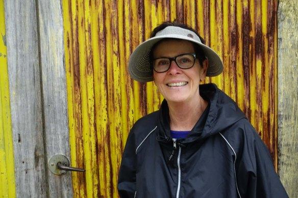 Linda by yellow door-1