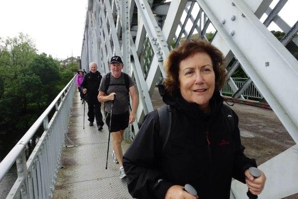 Ruth crossing bridge-1
