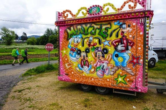 walking beside circus van-1