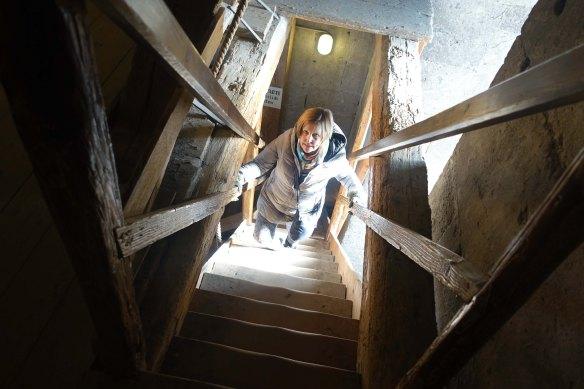 julie-climbing-tower